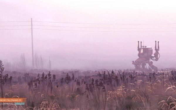 Sci Fi Mech Mecha Field Crops HD Wallpaper | Background Image