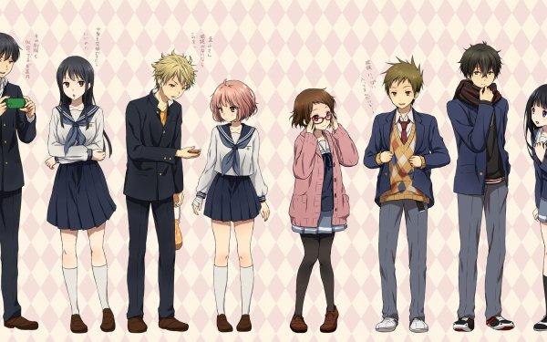 Anime Crossover Eru Chitanda Satoshi Fukube Mayaka Ibara Akihito Kanbara Mirai Kuriyama Hiroomi Nase Mitsuki Nase Hōtarō Oreki HD Wallpaper   Background Image