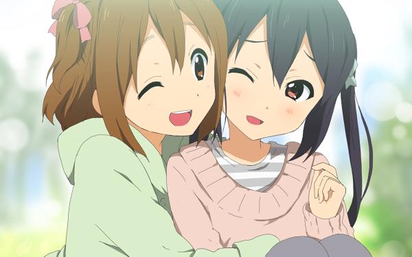 Anime K-ON! Yui Hirasawa Azusa Nakano HD Wallpaper   Background Image