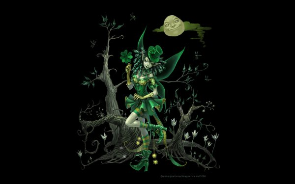 Fantasy Fairy St. Patrick's Day HD Wallpaper | Background Image