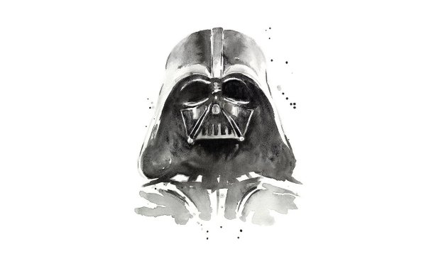 Sci Fi Star Wars Darth Vader Watercolor HD Wallpaper | Background Image