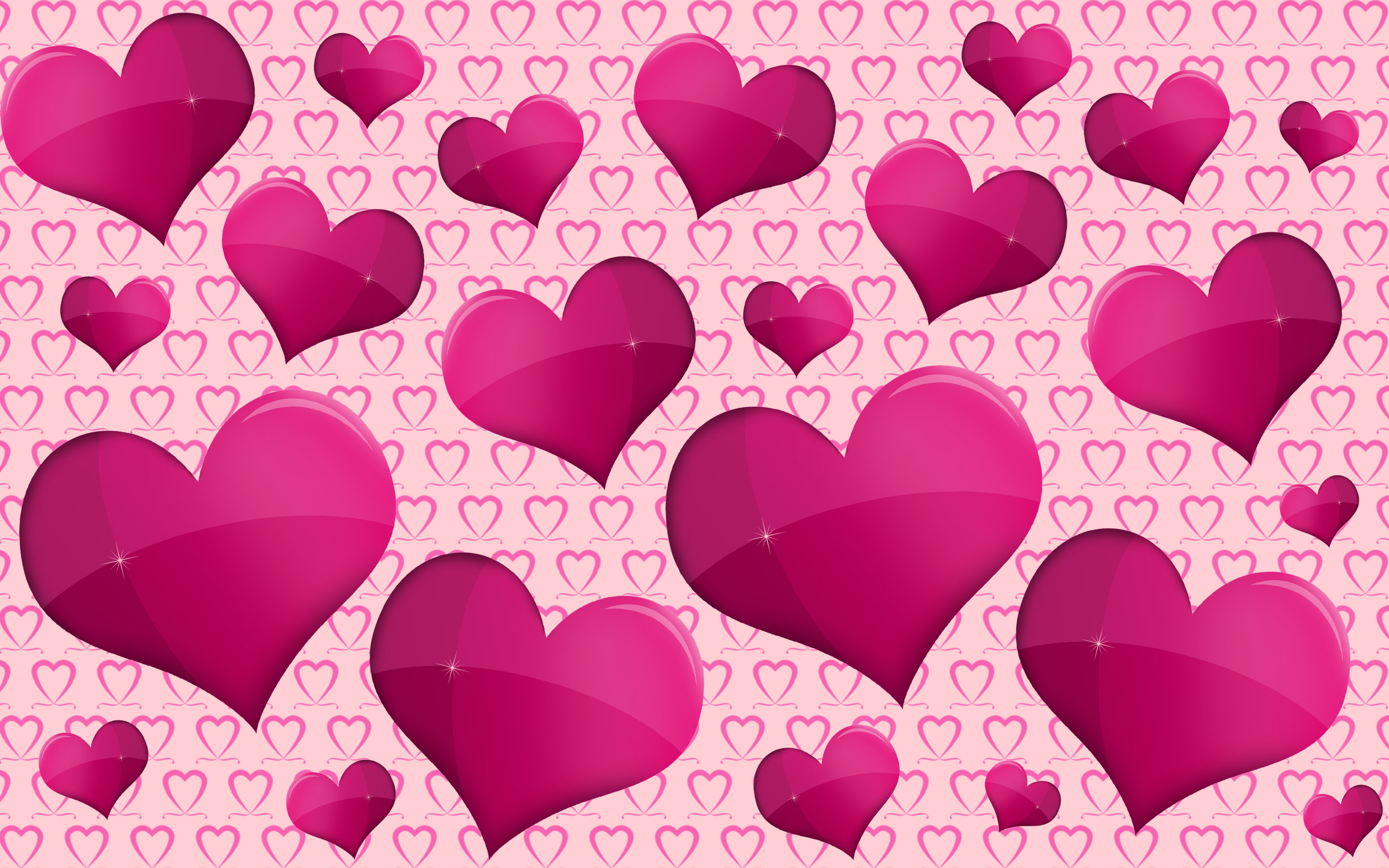 pink and purple hearts full hd wallpaper and background image