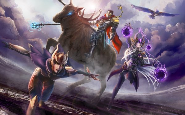 Video Game League Of Legends Viktor Shyvana Syndra HD Wallpaper | Background Image