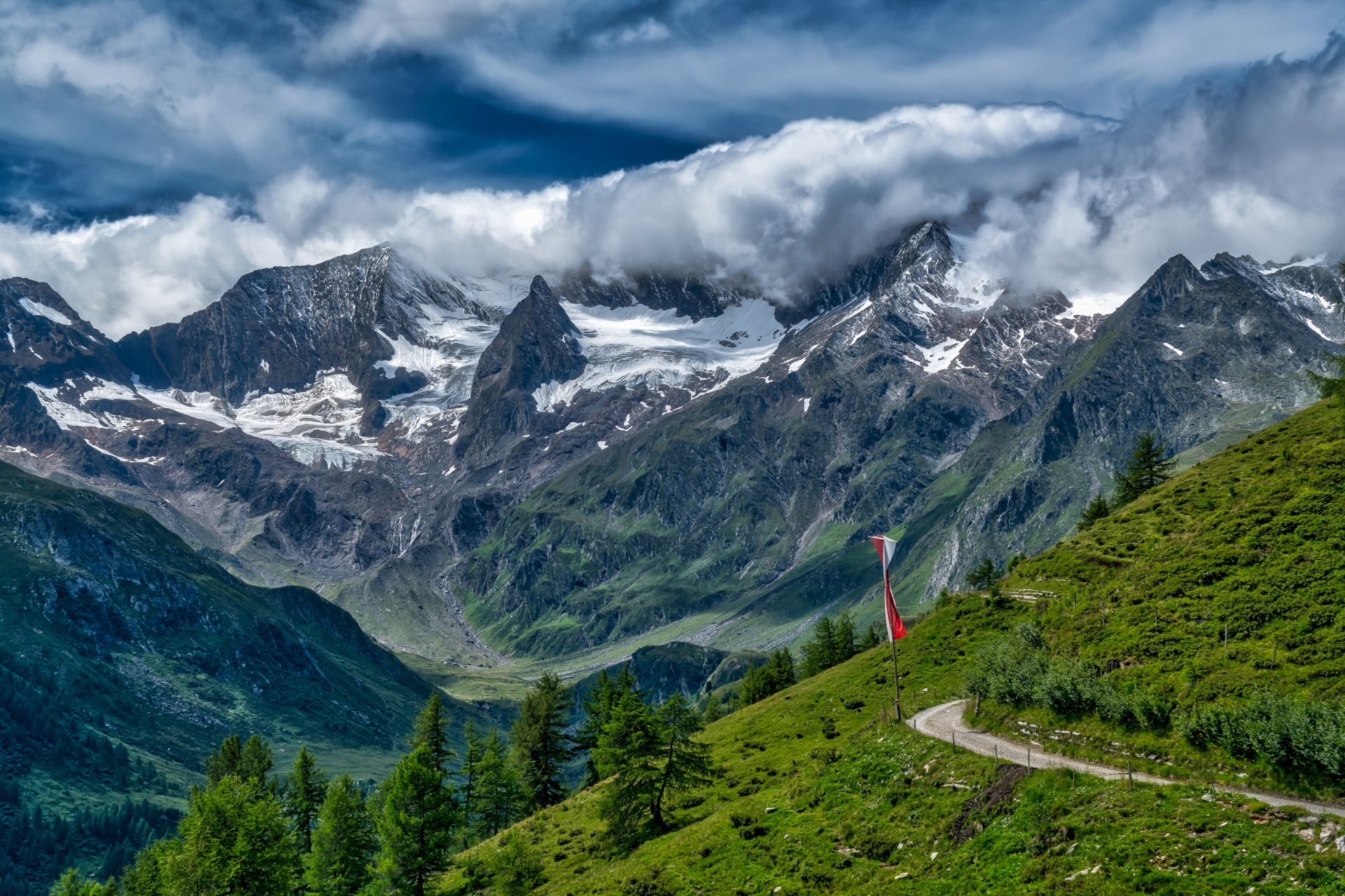 Clouds over the swiss alps hd wallpaper background image - Swiss alps wallpaper ...