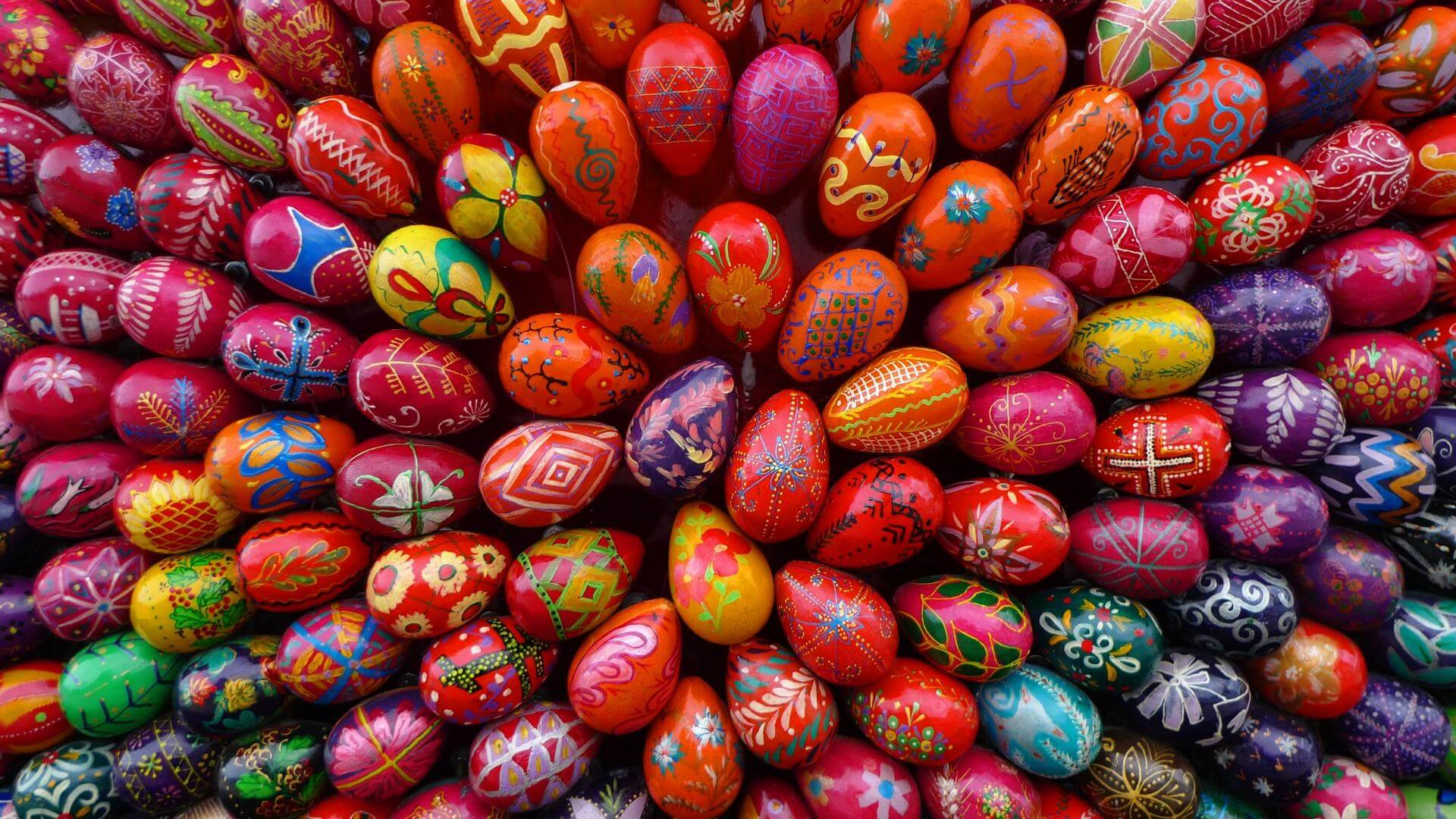 Colorful Easter Eggs HD Wallpaper