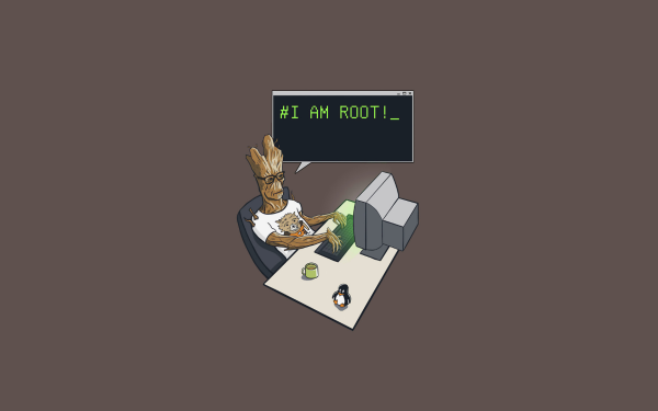 Movie Guardians of the Galaxy Groot Computer Humor Code Minimalist HD Wallpaper | Background Image