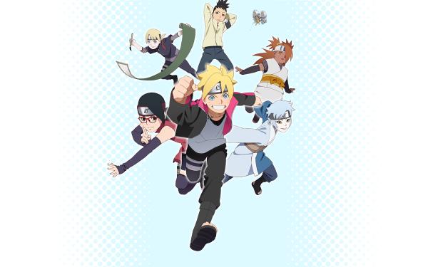 Anime Boruto Naruto Boruto Uzumaki Sarada Uchiha Mitsuki Papel de Parede HD | Plano de Fundo