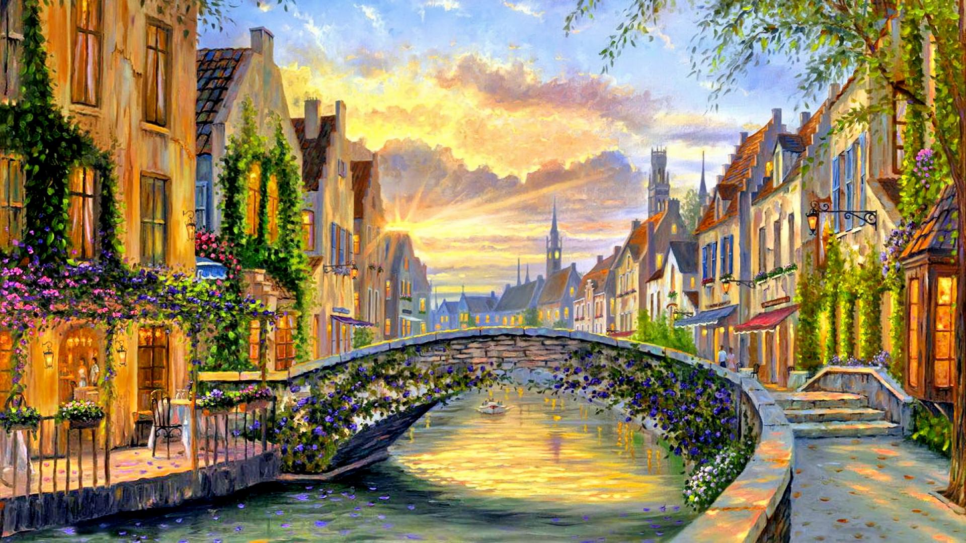 Обои Пейзаж, Весна, Вода. Города