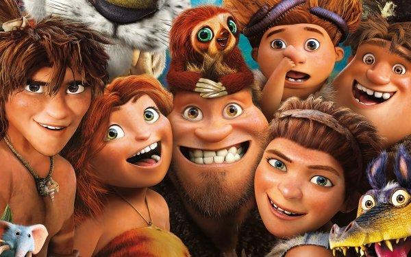 Movie The Croods Eep Guy Thunk Grug Sandy Ugga HD Wallpaper | Background Image