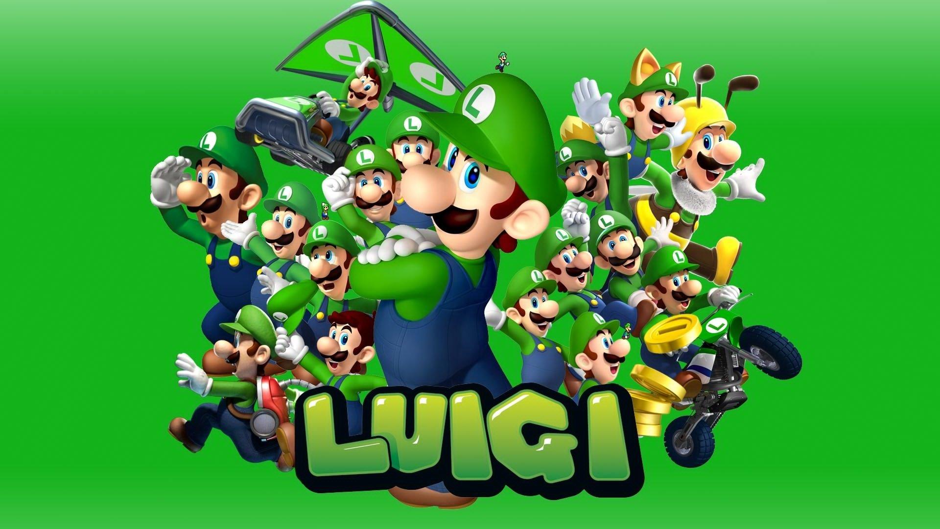 Luigi Hd Wallpaper Hintergrund 1920x1080 Id 825164 Wallpaper