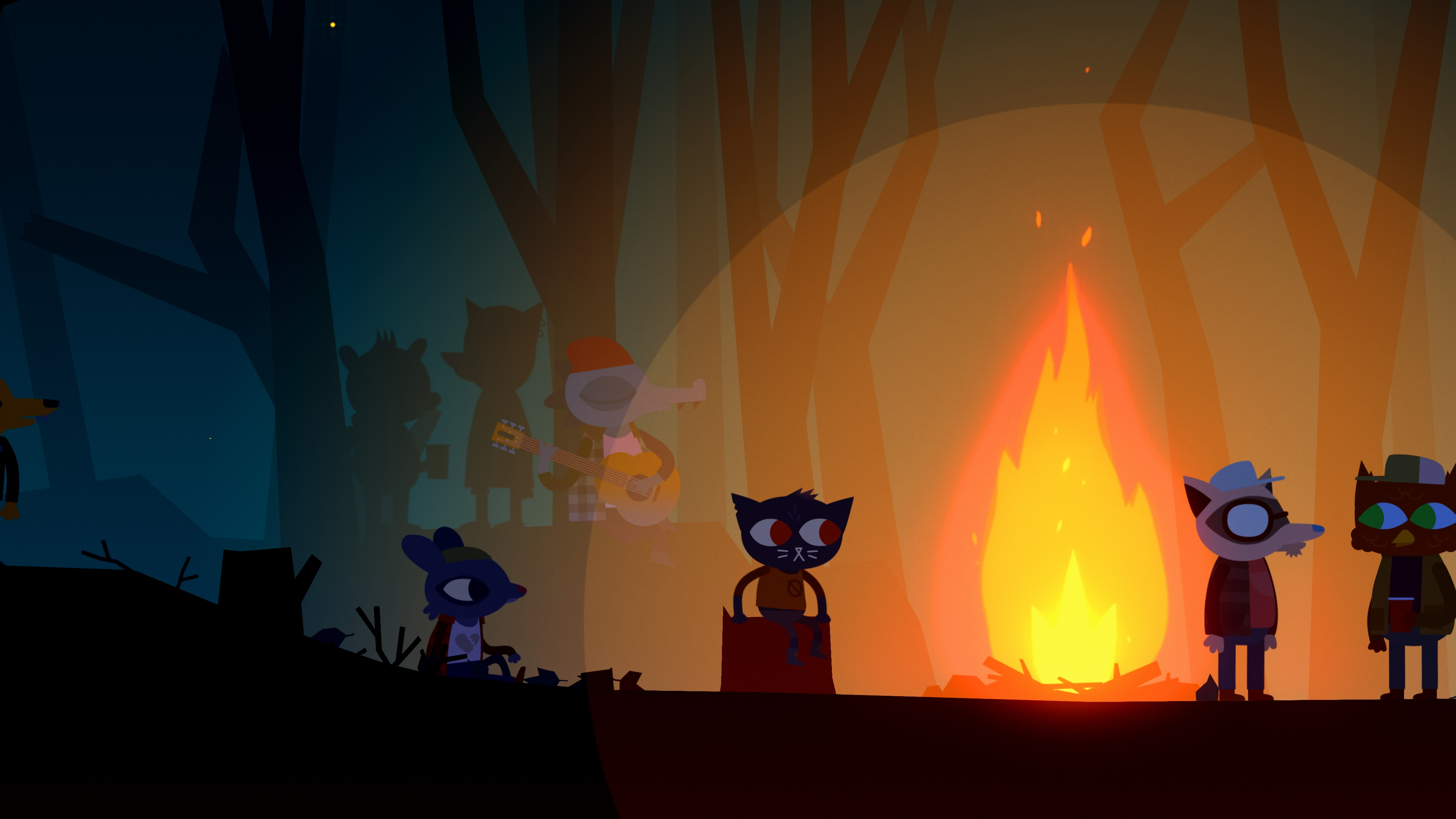 Night in the Woods 4k Ultra HD Wallpaper | Background ...