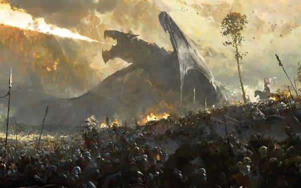 Fantasy Dragon Knight HD Wallpaper   Background Image