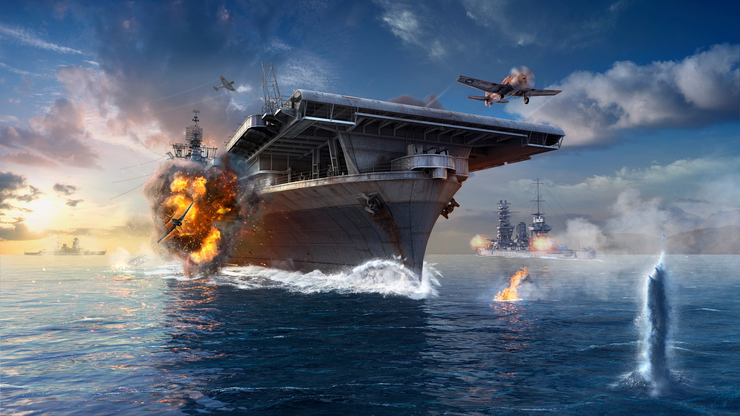 World Of Warships Hd Wallpaper Background Image 2560x1440 Id