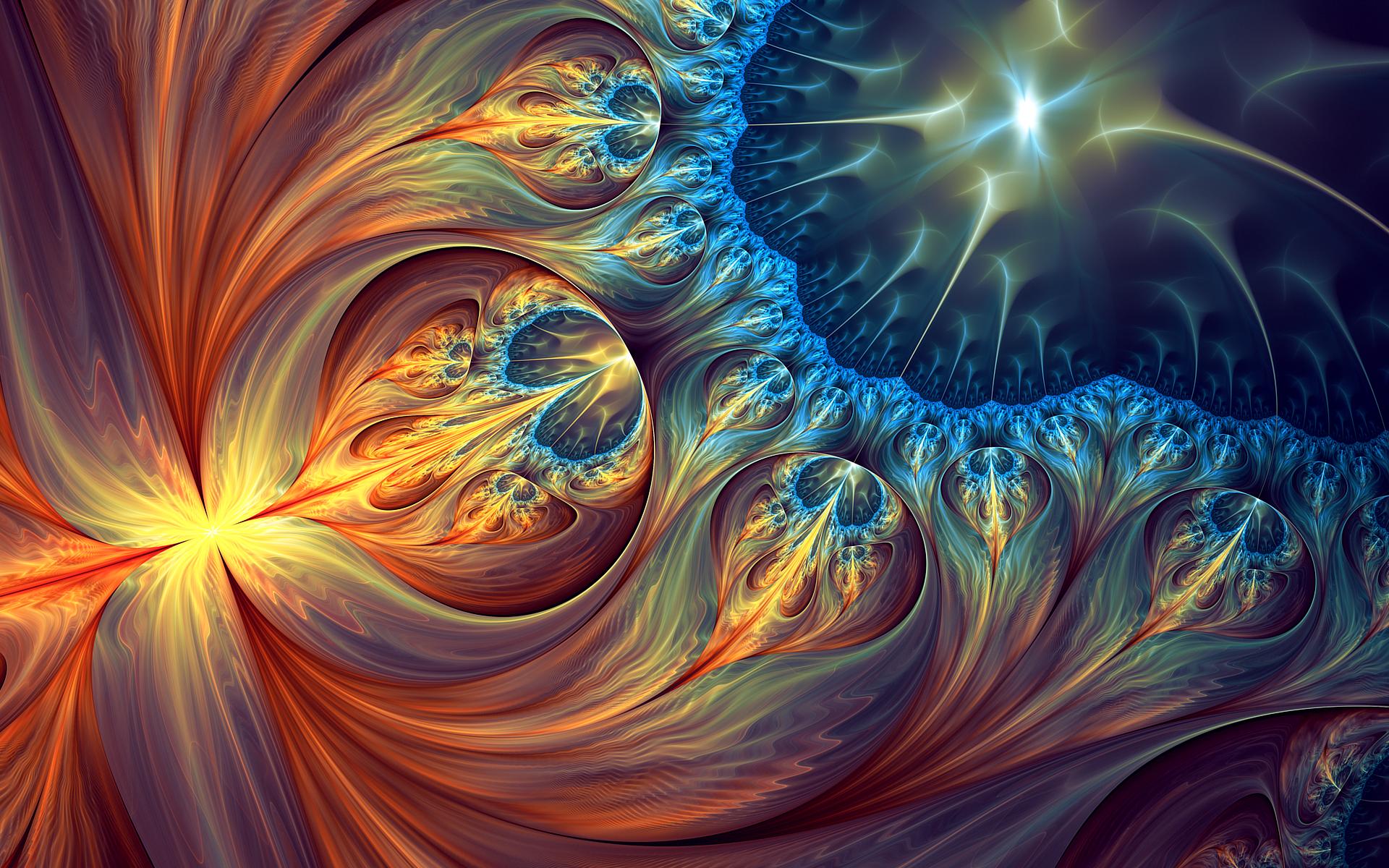 Abstract - Fractal  Abstract Colors Digital Art Artistic Wallpaper