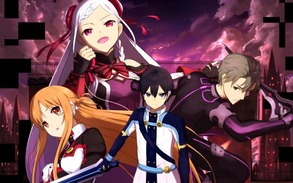 Anime Sword Art Online Movie: Ordinal Scale Sword Art Online Yuna Asuna Yuuki Kirito Eiji HD Wallpaper | Hintergrund