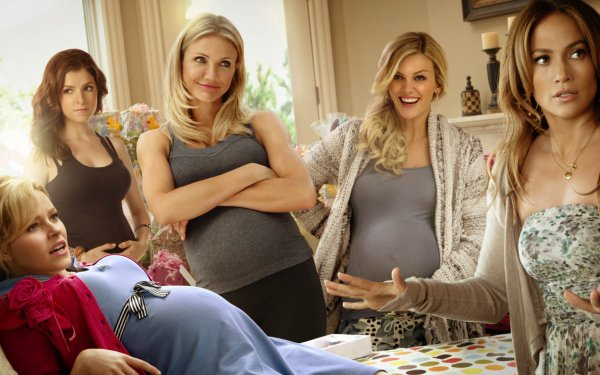 Movie What to Expect When You're Expecting Cameron Diaz Jennifer Lopez Elizabeth Banks Anna Kendrick Brooklyn Decker HD Wallpaper | Background Image