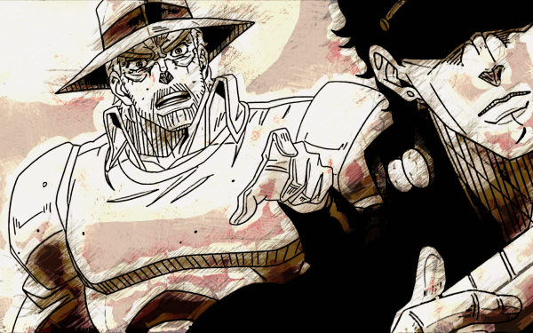Anime Jojo's Bizarre Adventure Joseph Joestar Jotaro Kujo HD Wallpaper   Background Image
