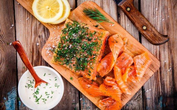 Alimento Pescado Marisco Salmon Bodegón Fondo de pantalla HD   Fondo de Escritorio