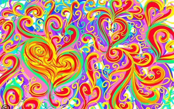 Artistic Love Abstract Heart Colors Colorful Bright HD Wallpaper | Background Image