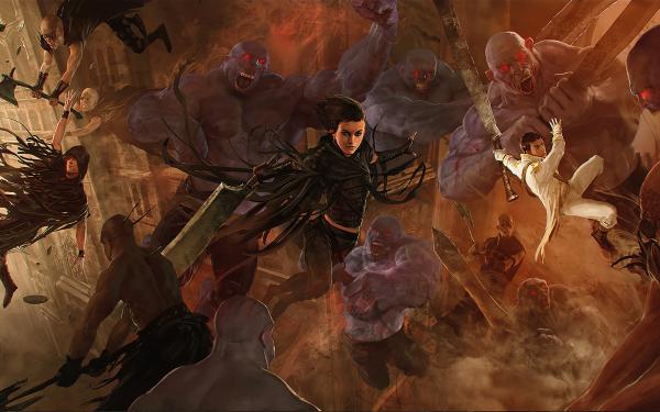 Fantaisie Mistborn Sombre Woman Warrior Epée Undead Guerrier Bataille Fond d'écran HD | Arrière-Plan