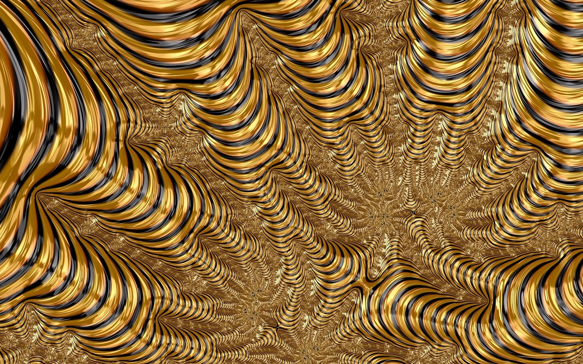 Black and Gold Abstract HD Wallpaper | Background Image ...