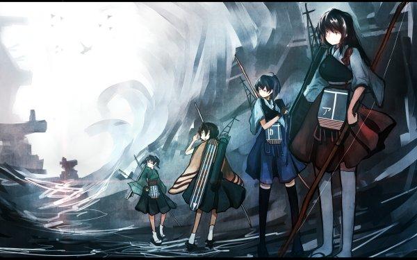 Anime Kantai Collection Akagi Kaga Hiryuu Souryuu HD Wallpaper | Background Image