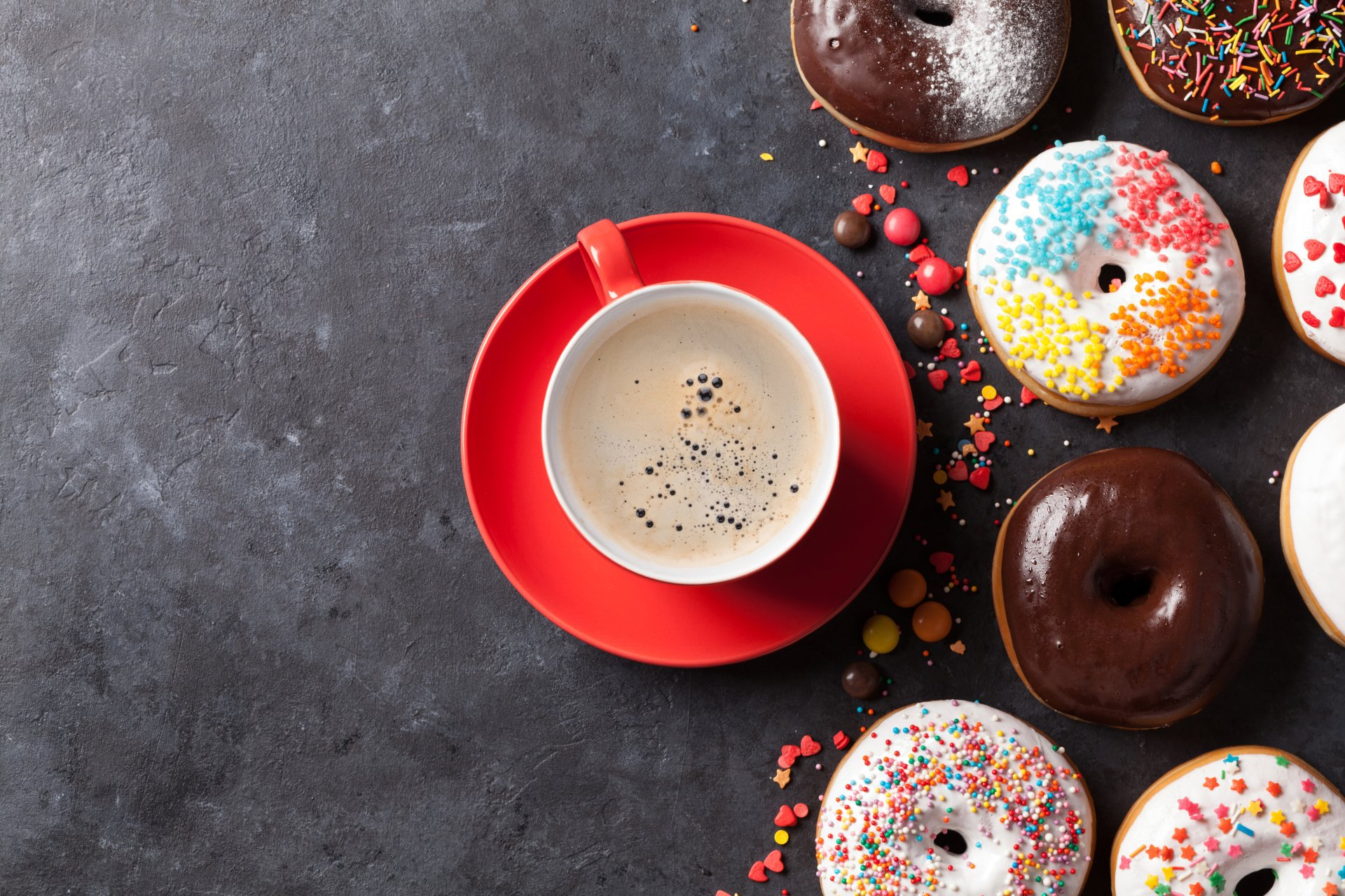 Food - Doughnut  Coffee Cup Sweets Still Life Wallpaper