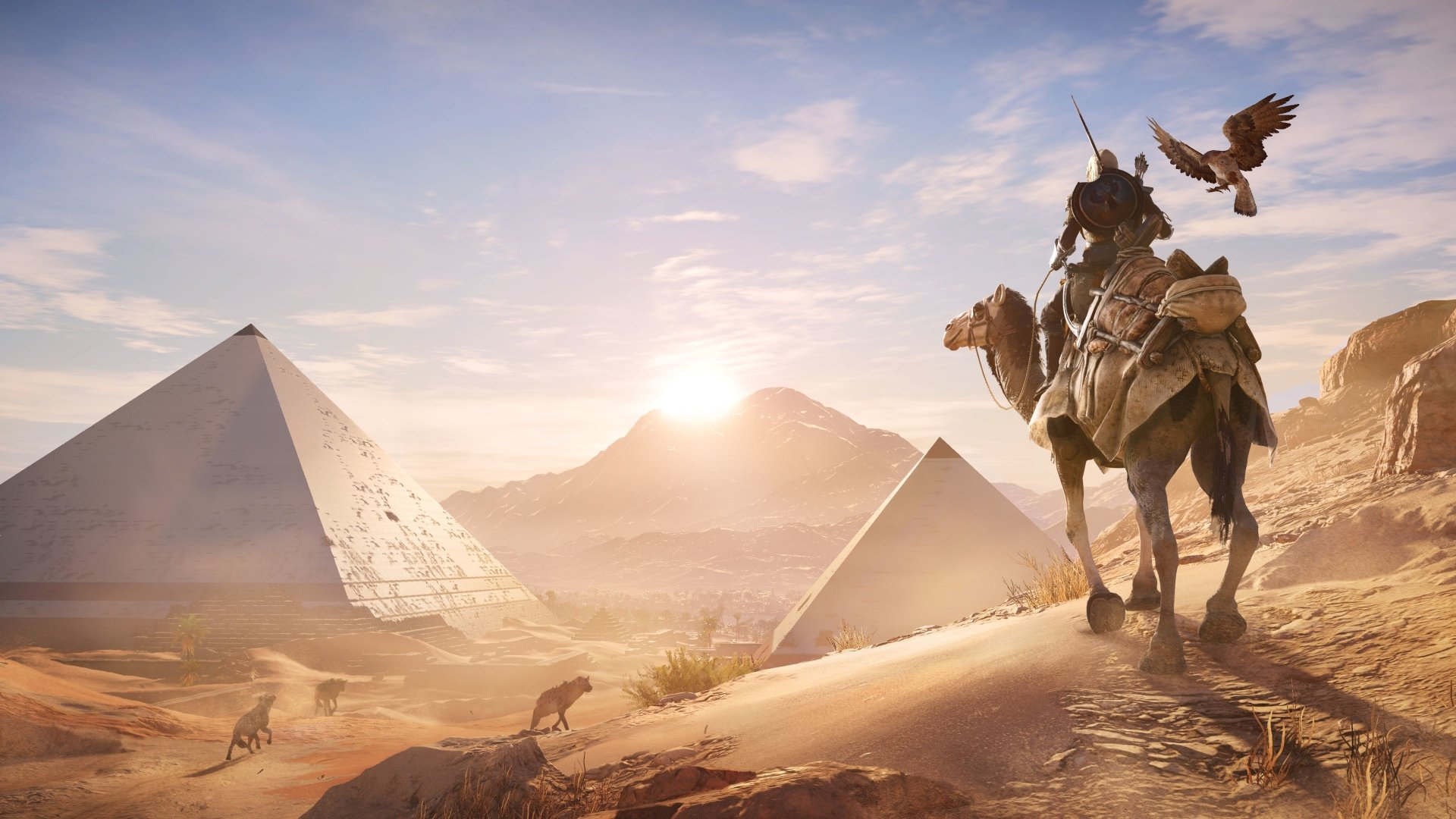 Video Game - Assassin's Creed Origins  Bayek Of Siwa Senu (Assassin's Creed) Camel Eagle Wallpaper