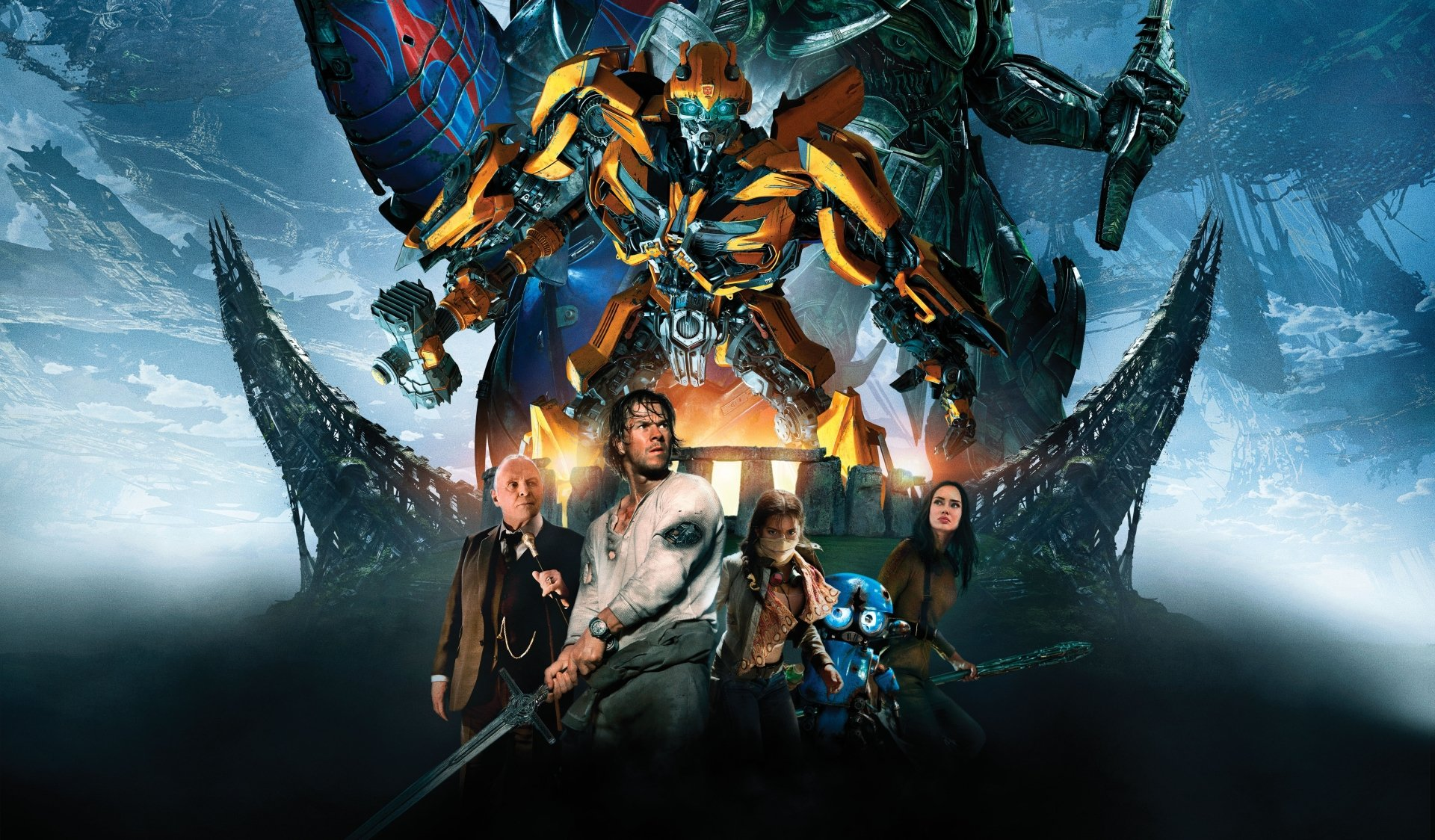 Movie - Transformers: The Last Knight  Isabela Moner Gemma Chan Anthony Hopkins Bumblebee (Transformers) Mark Wahlberg Wallpaper