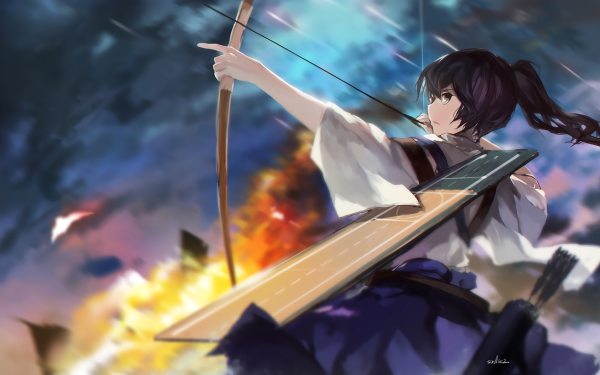 Anime Kantai Collection Kaga HD Wallpaper   Background Image