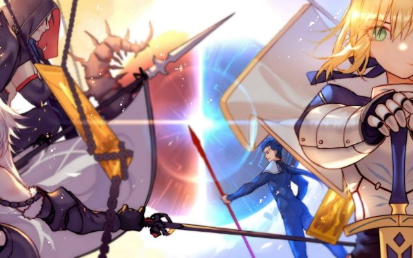 Anime Fate/Grand Order Fate Series Saber Saber Alter Ruler Lancer Cu Chulainn Berserker Avenger Jeanne d'Arc Jeanne d'Arc Alter HD Wallpaper | Background Image
