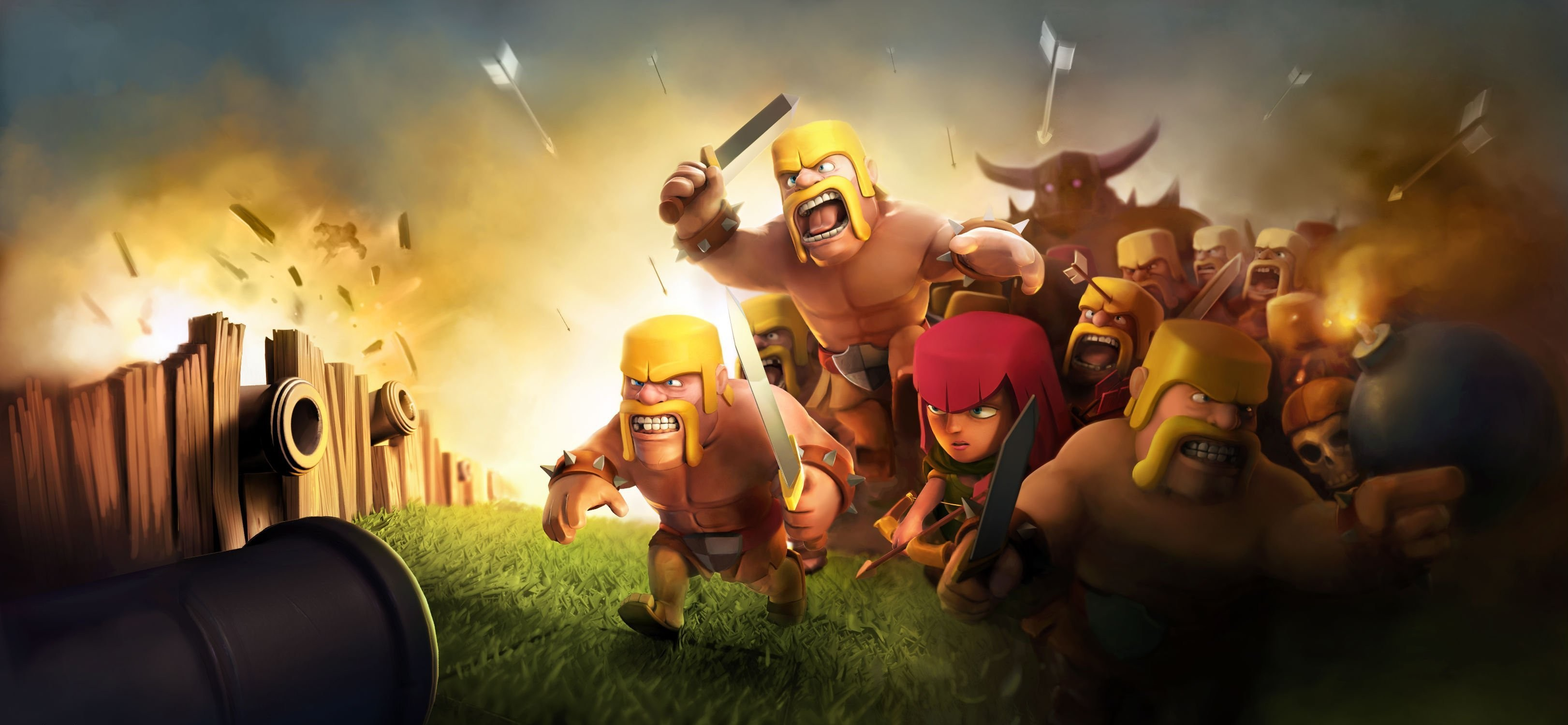 Clash Of Clans Hd Wallpaper Background Image 3243x1501 Id