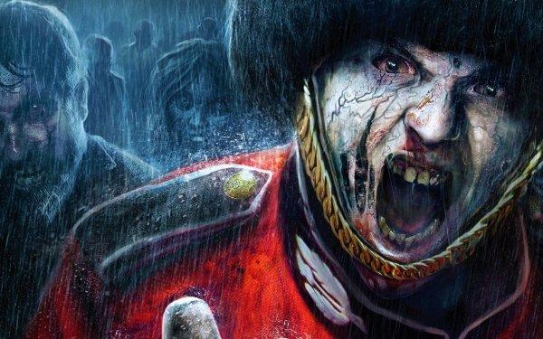 Video Game ZombiU Dark Fantasy Zombie Scary Rain HD Wallpaper | Background Image