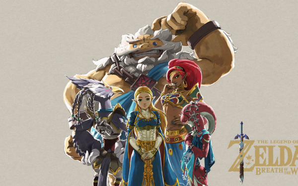 Video Game The Legend of Zelda: Breath of the Wild Zelda Urbosa Daruk Revali Mipha HD Wallpaper | Background Image