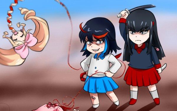Anime Kill La Kill Ryūko Matoi Satsuki Kiryūin Nui Harime HD Wallpaper | Background Image