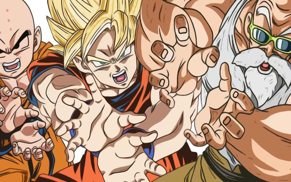 Anime Dragon Ball Super Dragon Ball Krillin Master Roshi Goku Super Saiyan Kamehameha HD Wallpaper | Background Image
