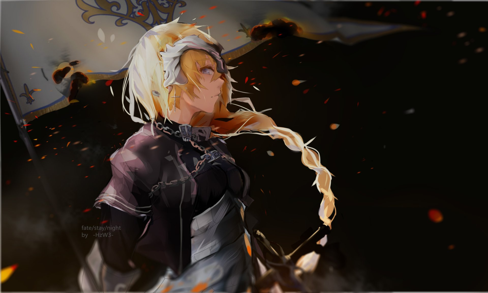 Anime - Fate/Apocrypha  Jeanne d'Arc Girl Braid Blonde Blue Eyes Woman Warrior Wallpaper