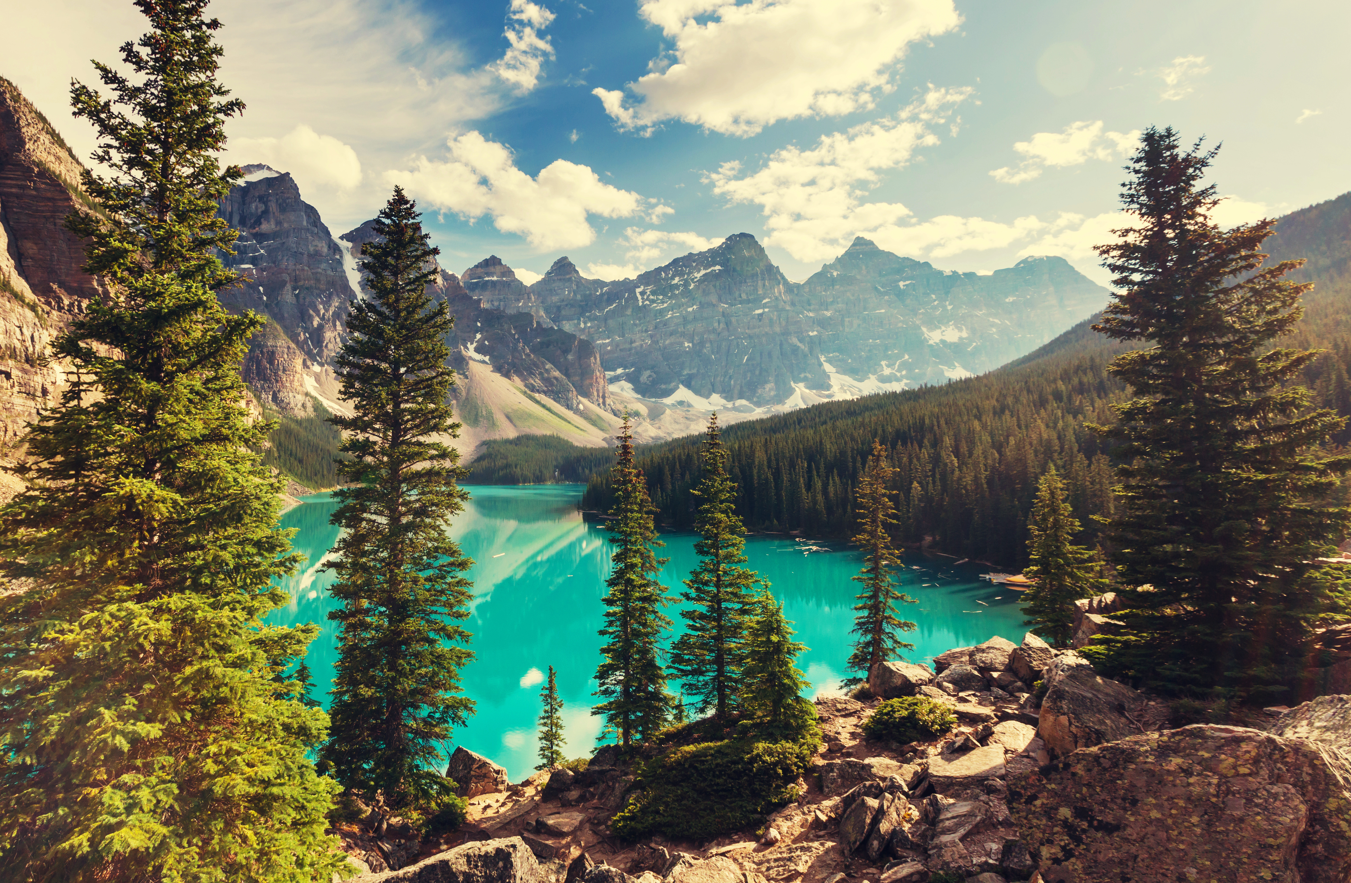 Moraine Lake 4k Ultra HD Wallpaper