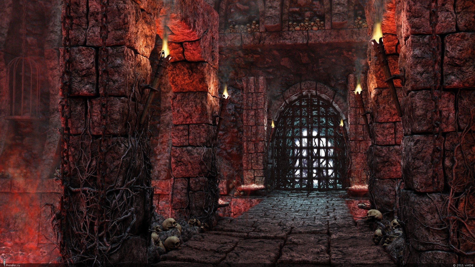 Inside Old Gothic Castle HD Wallpaper | Background Image ...