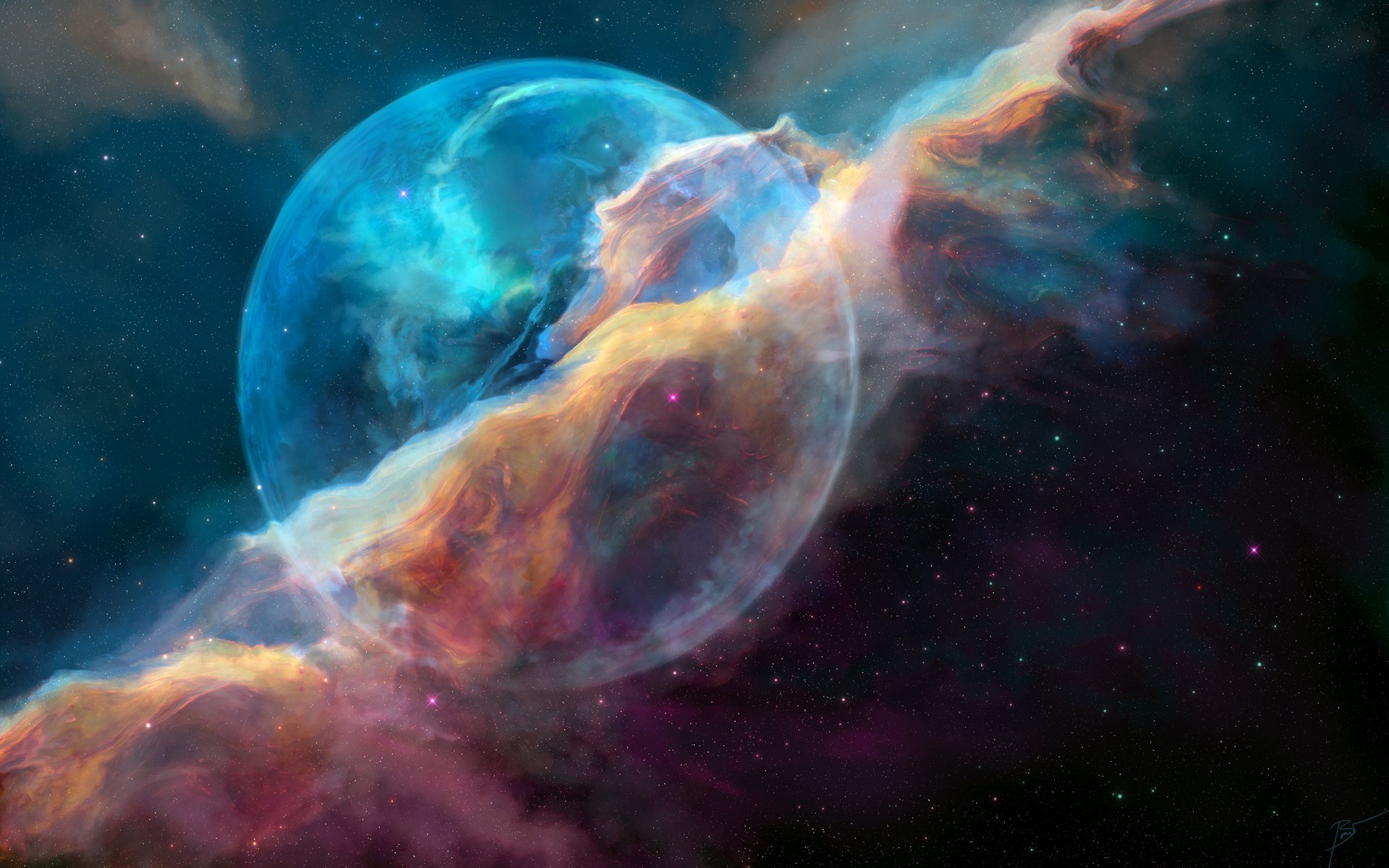 Sci Fi - Space  Sci Fi Planet Nebula Colorful Wallpaper