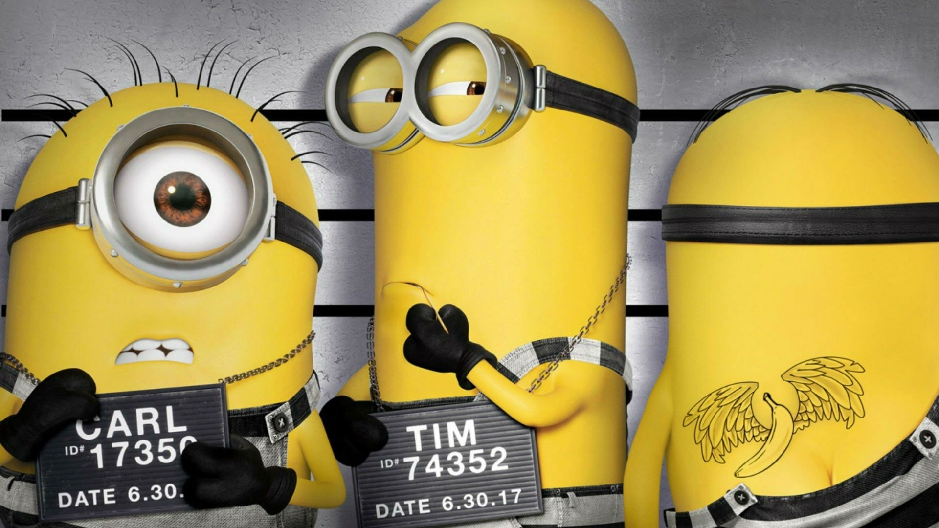 Movie - Despicable Me 3  Minions Stuart (Minions) Kevin (Minions) Bob (Minions) Wallpaper