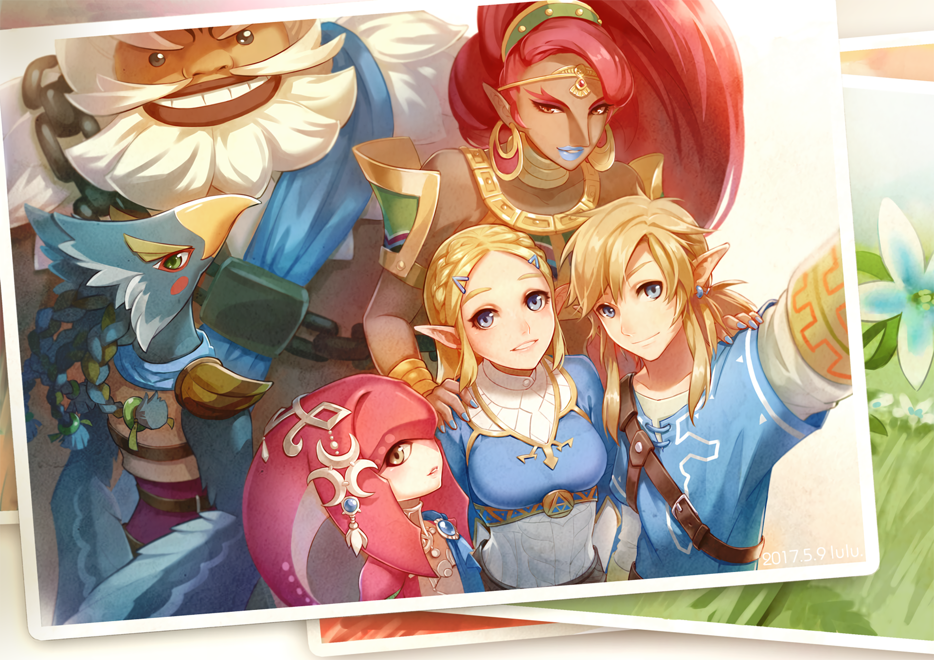 Video Game - The Legend of Zelda: Breath of the Wild  Link Zelda Mipha (The Legend Of Zelda) Revali (The Legend Of Zelda) Daruk (The Legend Of Zelda) Urbosa (The Legend Of Zelda) Wallpaper