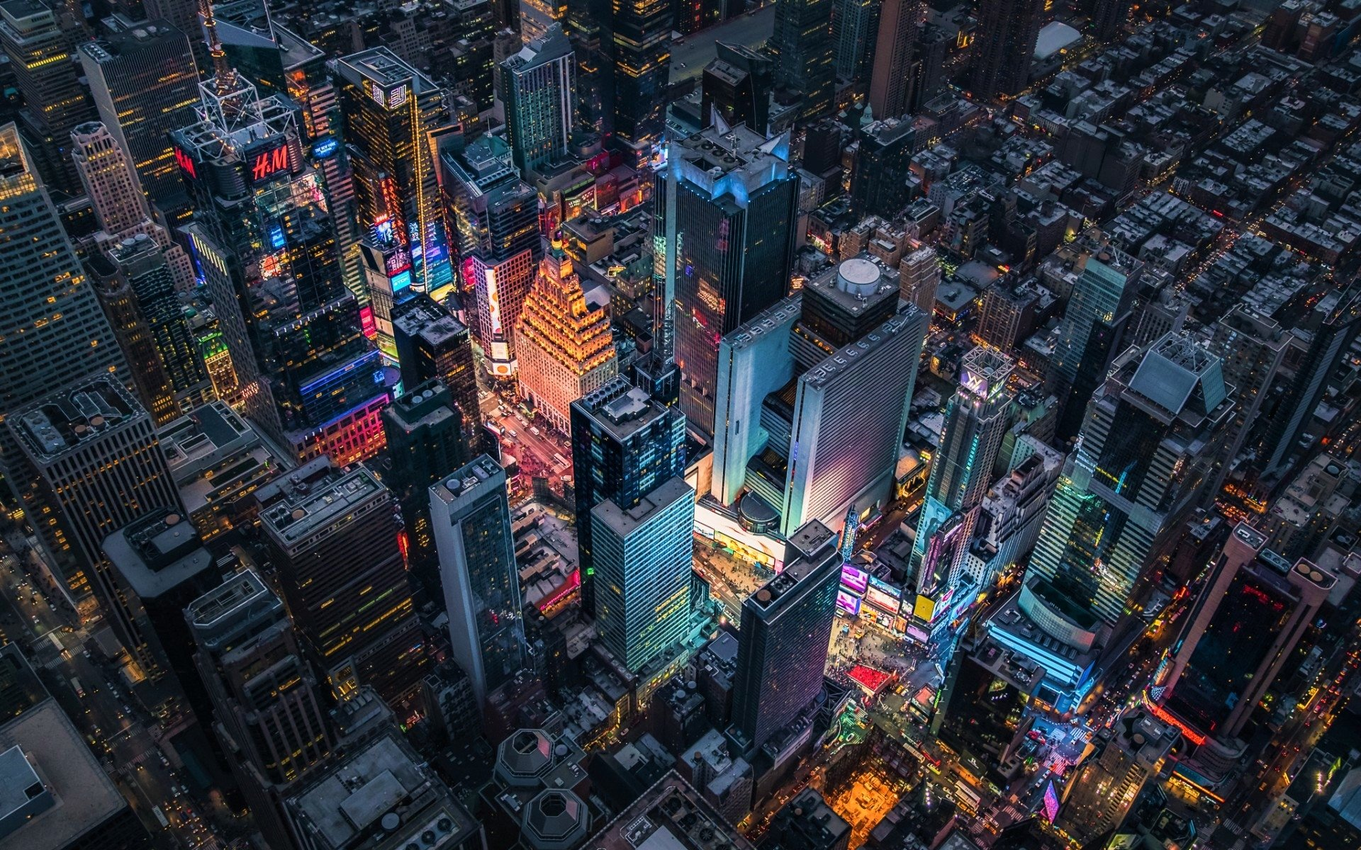 Times Square In New York City From Above Hd Wallpaper Background
