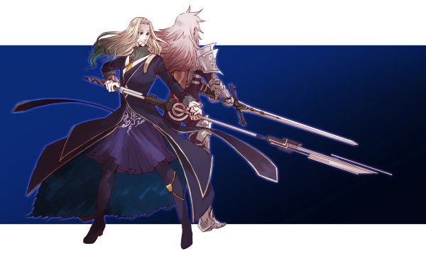 Anime Fate/Apocrypha Fate Series Saber of Black Lancer of Black HD Wallpaper   Background Image