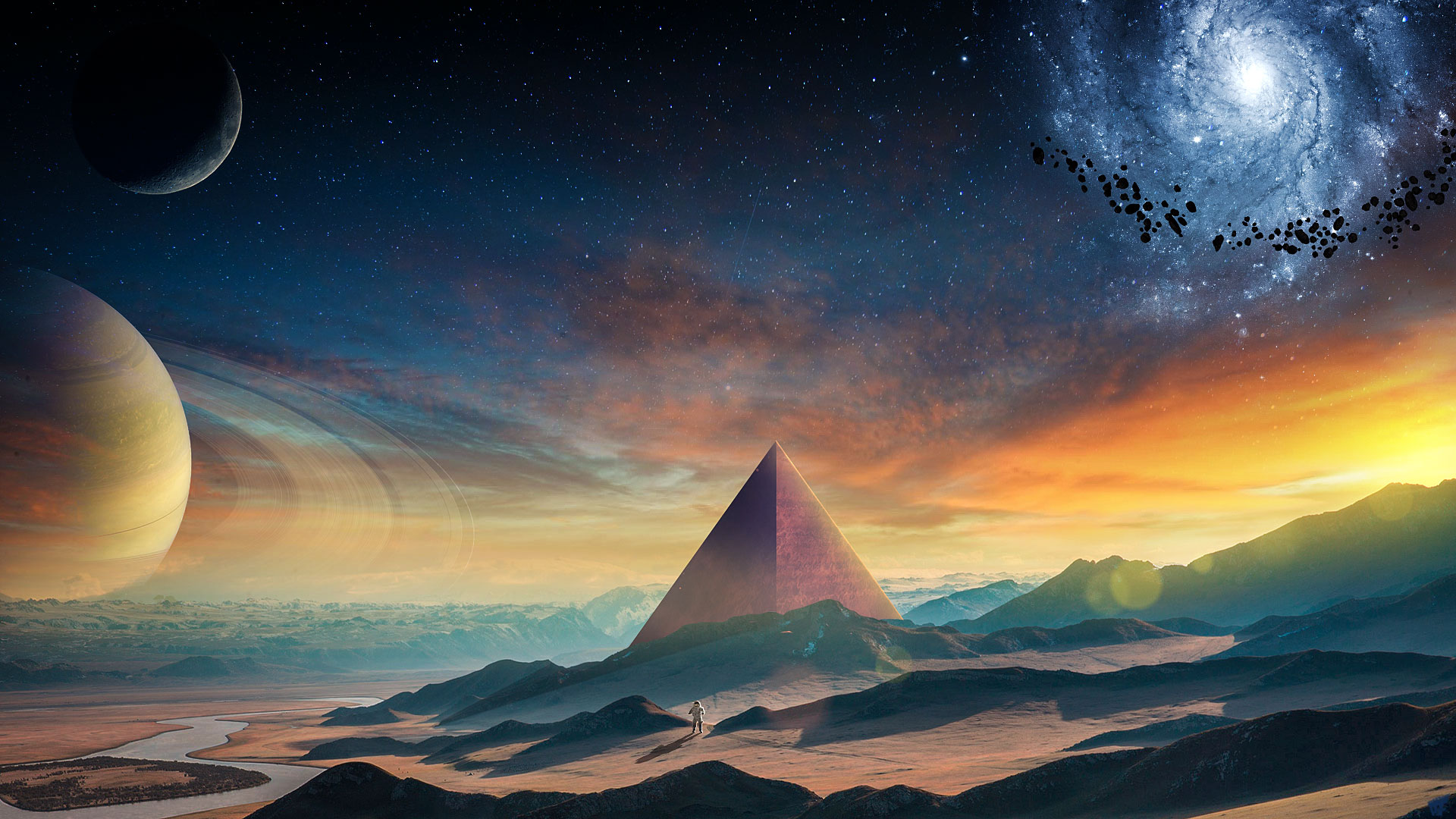 Pyramid Full HD Wallpaper And Background Image