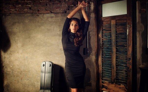 Women Model Models Black Dress HD Wallpaper | Background Image
