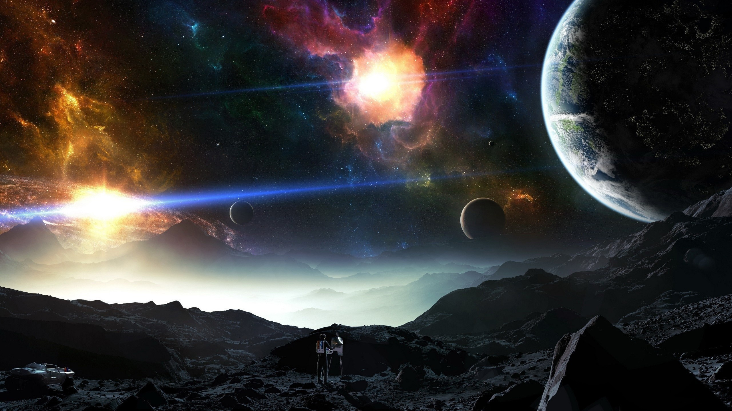 painting the universe hd wallpaper background image 2560x1440
