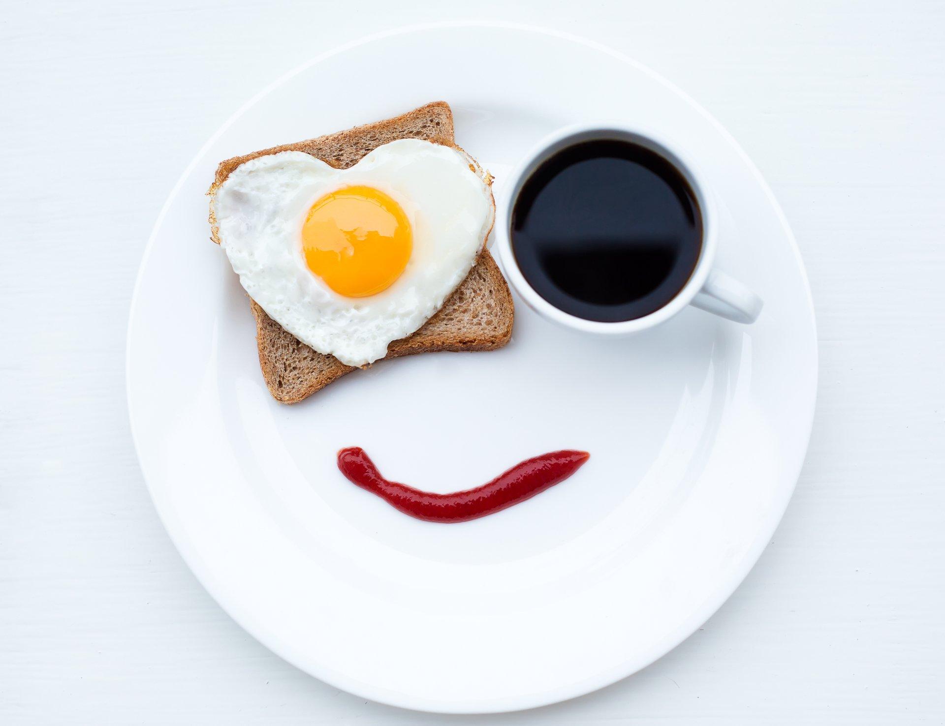 Food - Breakfast  Face Egg Coffee Wallpaper