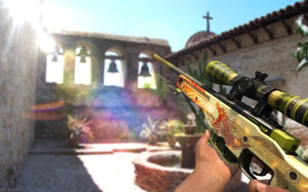 Video Game Counter-Strike: Global Offensive Counter-Strike AWP Azimov Guns Dragon Lore HD Wallpaper | Background Image