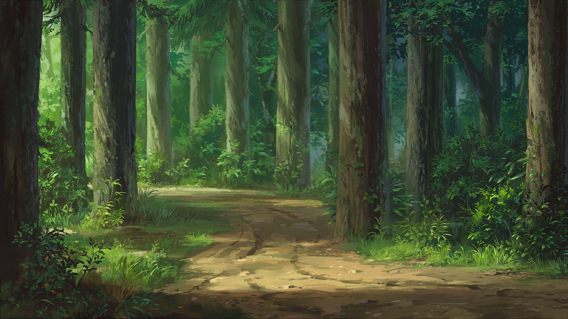 Original hd wallpaper background image 1920x1080 id - Anime forest background ...